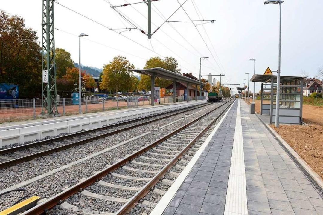 Blick vom neuen Gleis in Richtung Westen    Foto: Ingo Schneider