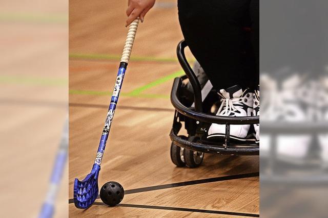 Turnier im Rollstuhlhockey