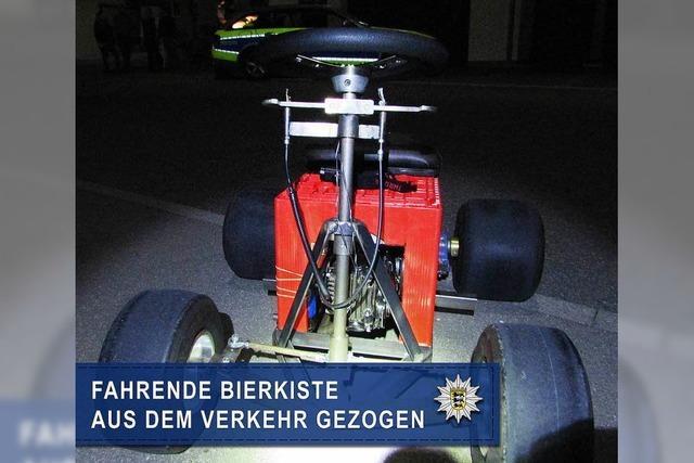 Polizei stoppt in Winnenden rollende Bierkiste mit Motor