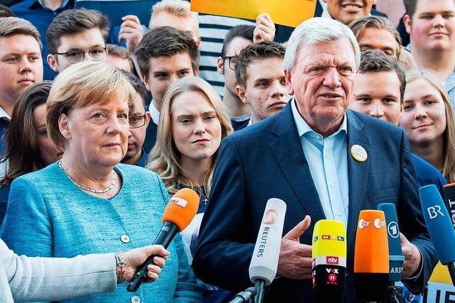 Merkel und Nahles und ihre heikle Wahlkampfhilfe in Hessen