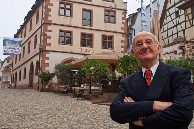 Stadtrundgang durch Endingen mit Bürgermeisterkandidat Werner Semmler