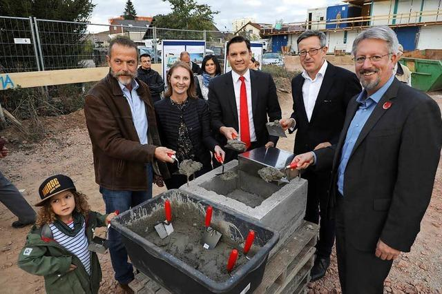 Grundstein für Wohnquartier am Kleinfeldpark gelegt