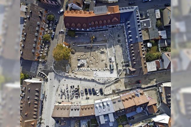Bauarbeiten am Breisacher Marktplatz