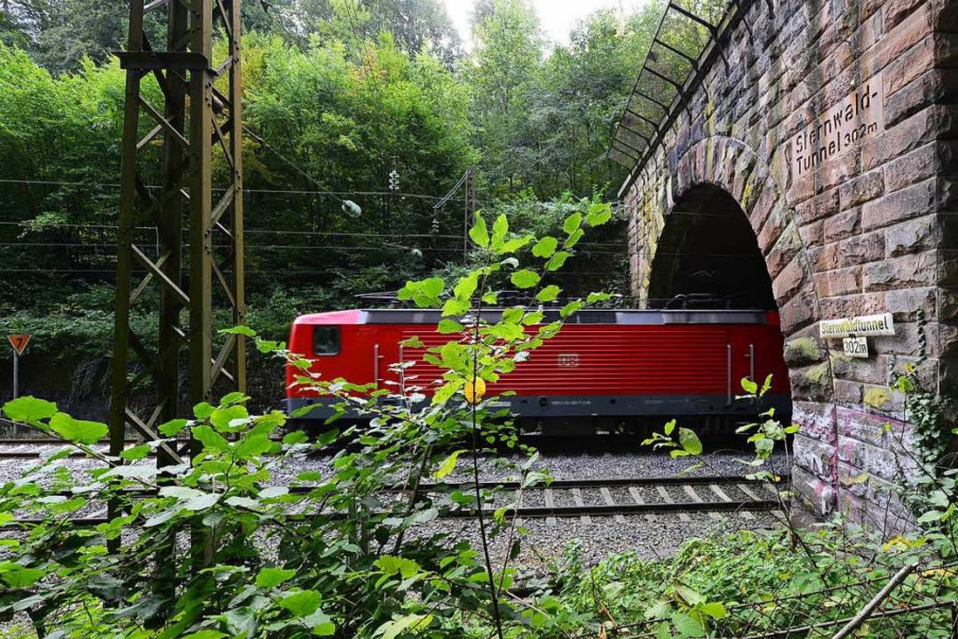 Der Zaun am Sternwaldtunnel hat ein To...tutzt,  sonst ist nicht viel passiert.    Foto: Ingo Schneider