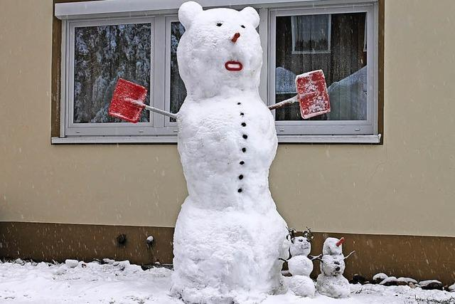Erster Schnee(mann)