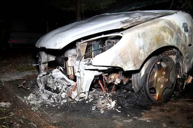 In Mahlberg hat schon wieder ein Auto gebrannt