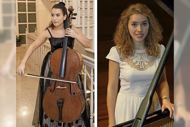Natalia Dauer (Cello) und Julia Pleninger (Klavier) bei Junge Klassik in Rheinfelden