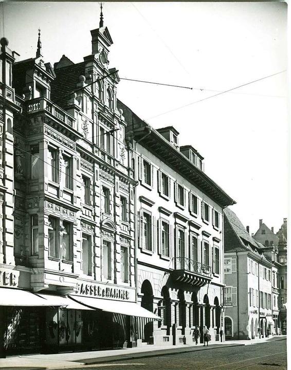 Das historische Foto von  Ruth Groß-Al...er Betonbau des Kaufhauses Breuninger.    Foto: Augustinermuseum