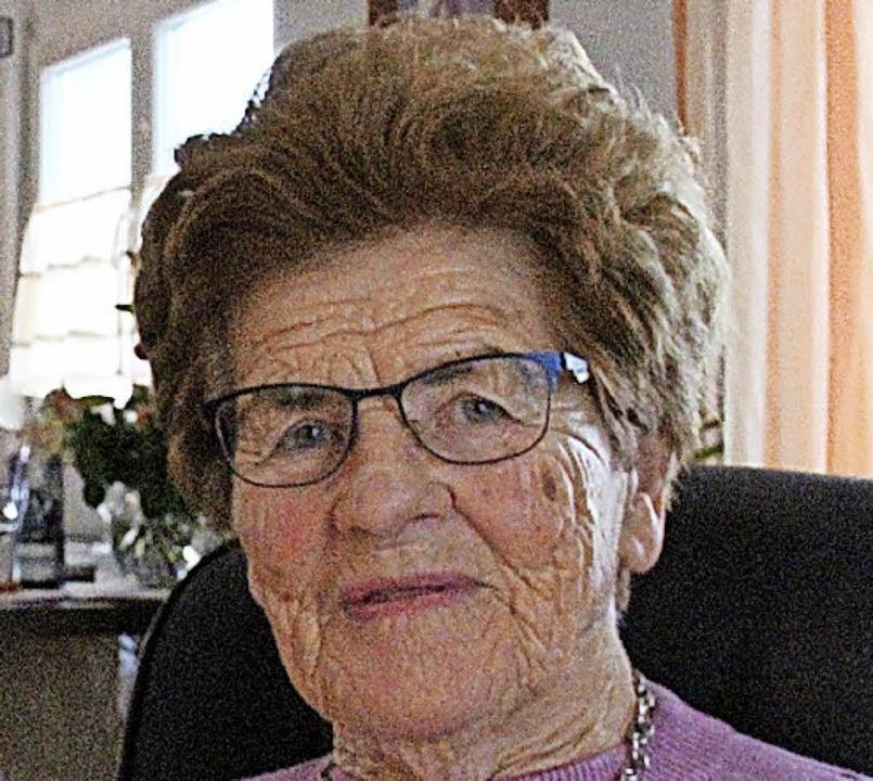 Edith Fechtig feierte ihren 90. Geburtstag.   | Foto: Ortlieb
