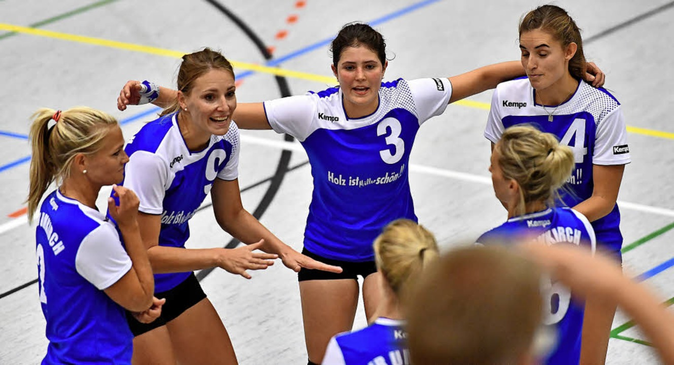 Ein Jahr lang ungeschlagen, nun die dr...Die Volleyballerinnen des VfR Umkirch   | Foto: Keller