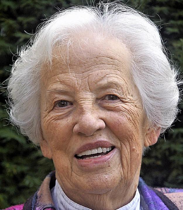 Marta Scheumann wird heute 85 Jahre alt.    Foto: W. Beck