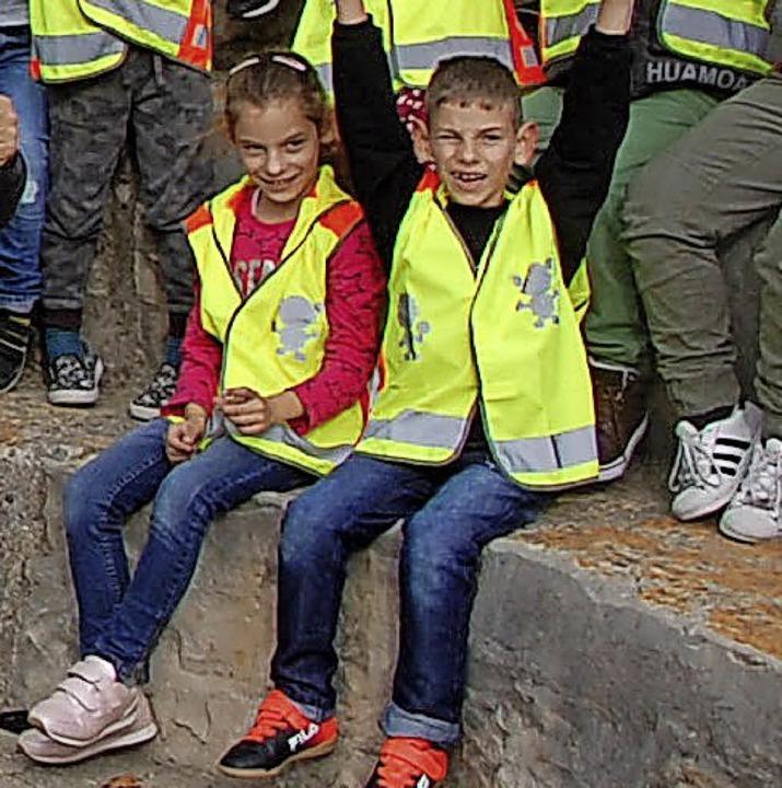 <BZ-FotoAnlauf>ADAC-Stiftung</BZ-FotoA...e Westen gab&#8217;s für Erstklässer.   | Foto: Privat