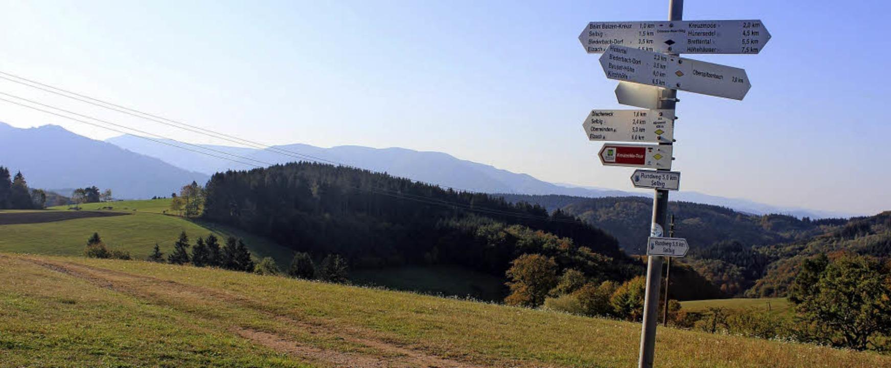 Wunderbare Wanderungen gibt's im... Herbstwetter (Biederbach-Bäreneckle).  | Foto: Bernd Fackler