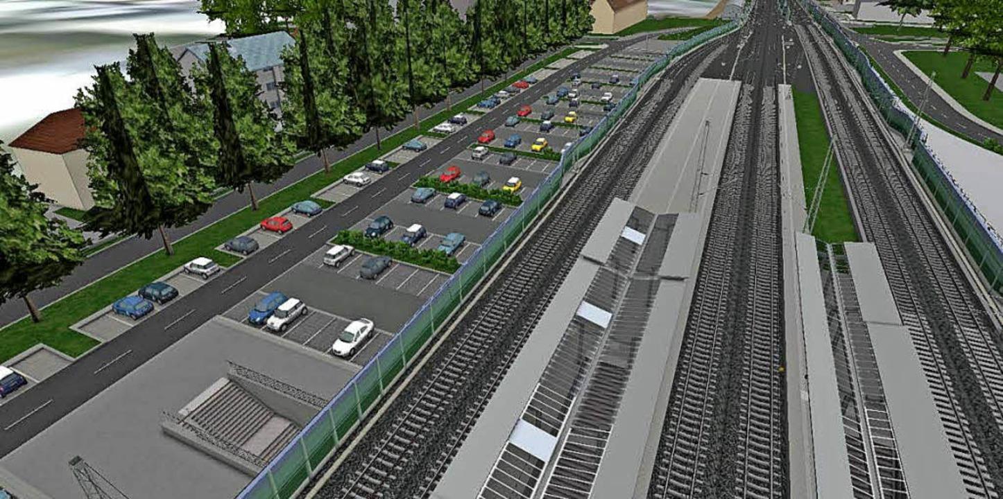 Visualisierung des geplanten Bahnhofs Müllheim   | Foto: Illustration: deutsche Bahn