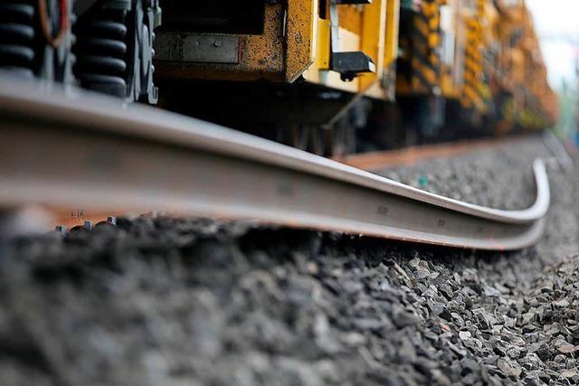 Rheintalstrecke: Für die Bahn ist ein Baustopp kein Thema
