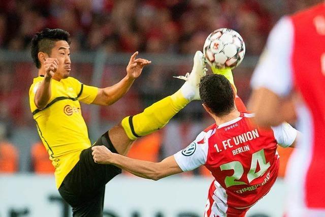 Dortmunds B-Elf zittert sich gegen Zweitligist Union Berlin ins Achtelfinale