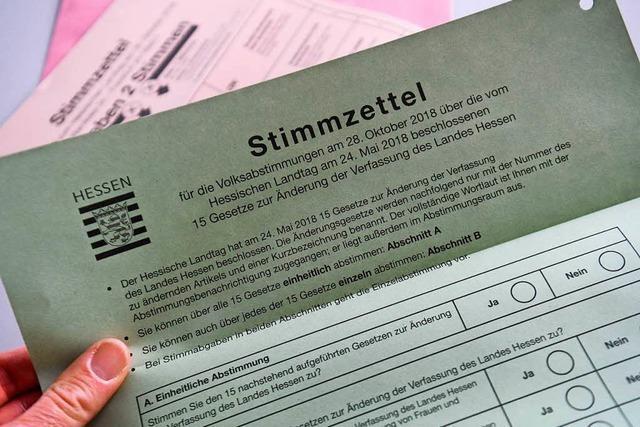Hessen stimmen für die Reform der Landesverfassung
