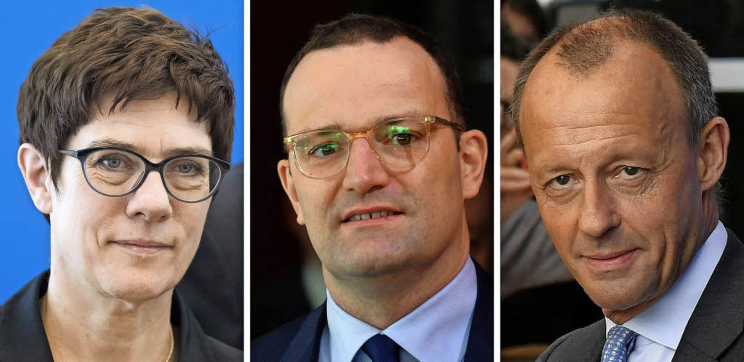 Der Wettbewerb um den Parteivorsitz is...z (von links) ihre Kandidatur erklärt.  | Foto: Fotos: Afp