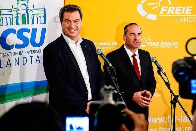 Freie Wähler übernehmen Kultus-, Wirtschafts- und Umweltministerium