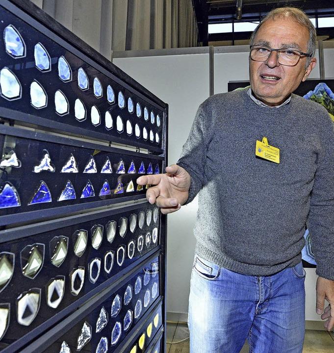 Paul Rustemeyer hat 20000 Edelsteine geschliffen.  | Foto: Michael Bamberger