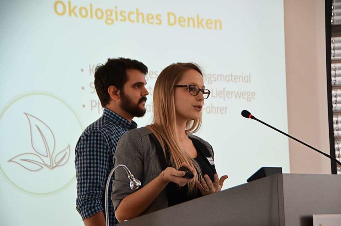 Die Gründer: Kristina Sczesny und Paul Hermesmeier   | Foto: Walser