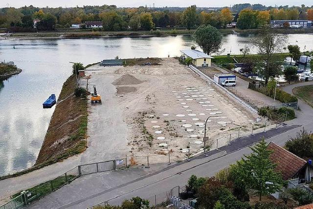 Stillstand auf der Baustelle des Wasserstraßen- und Schifffahrtsamtes