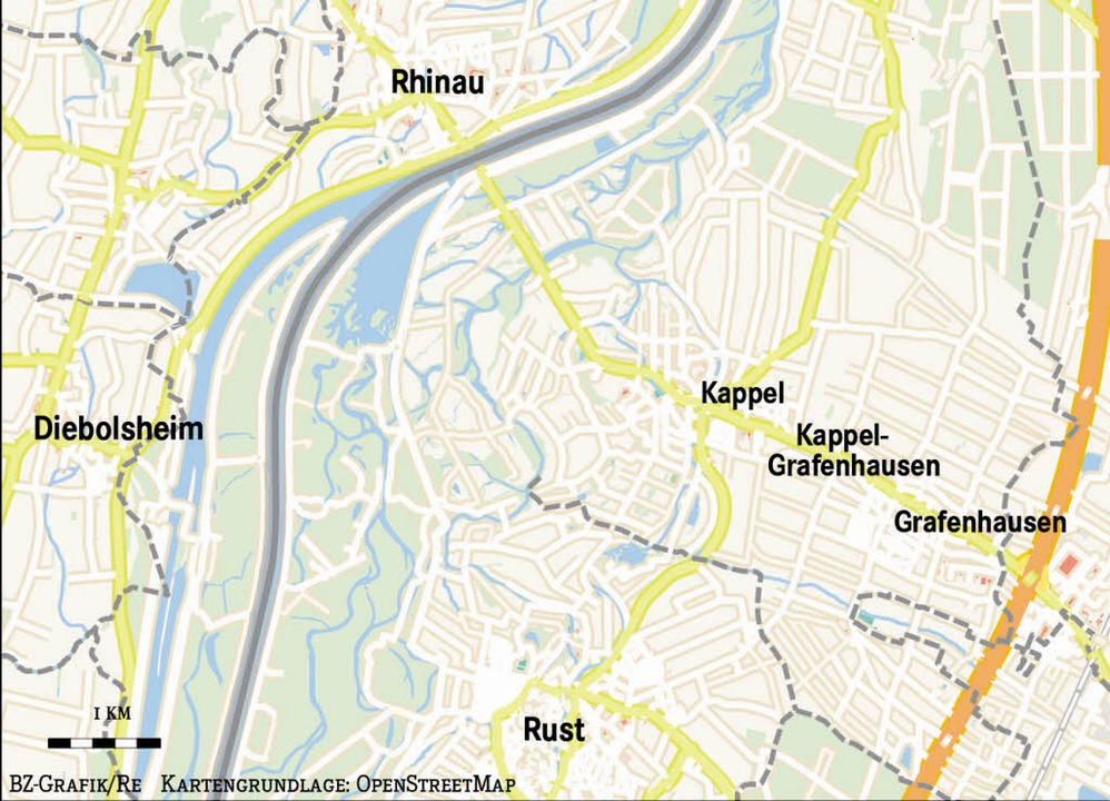 Die Seilbahn soll von Rust über den Rhein ins Elsass reichen.  | Foto: BZ