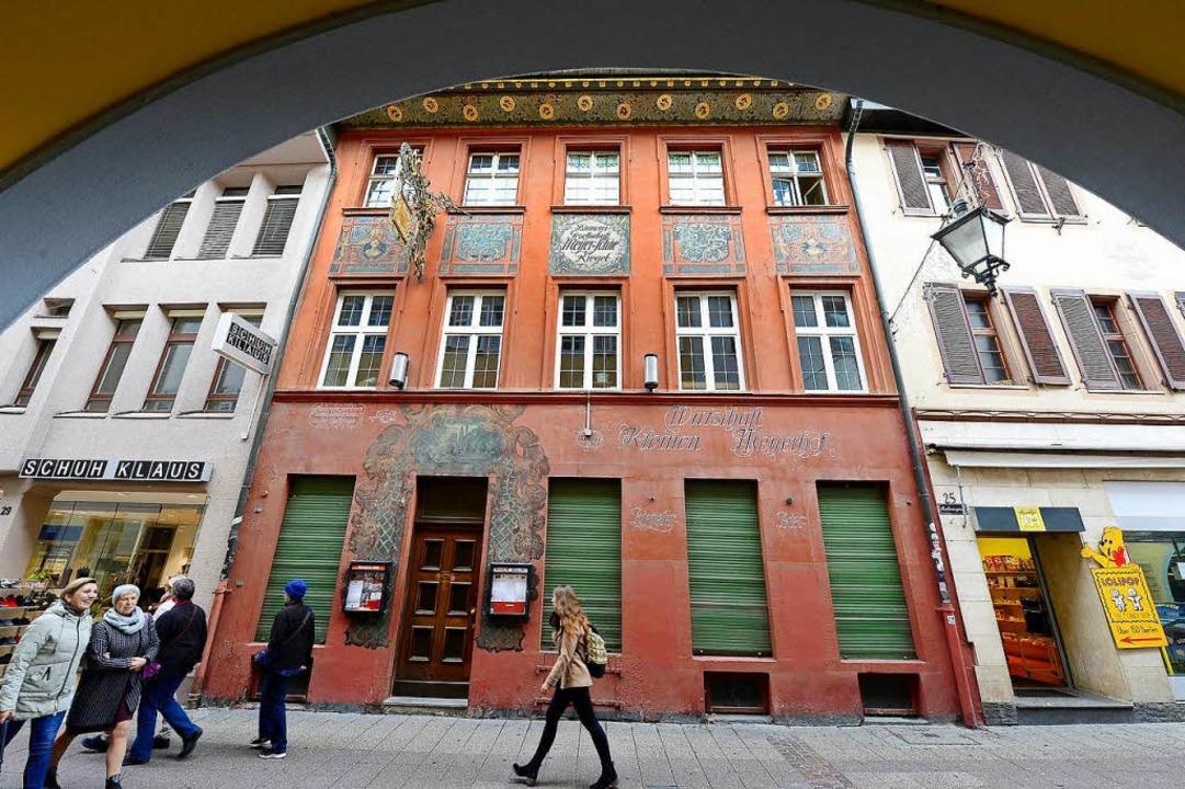 Der Kleine Meyerhof in der Rathausgass... danach weitergeht, ist völlig offen.   | Foto: Ingo Schneider