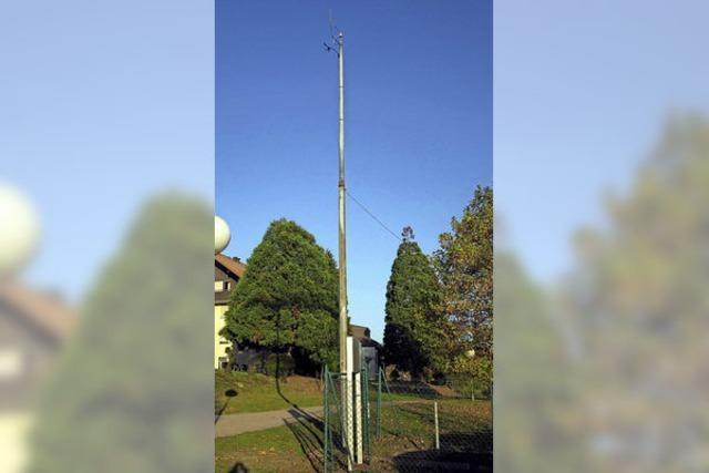 Zehn-Meter-Mast