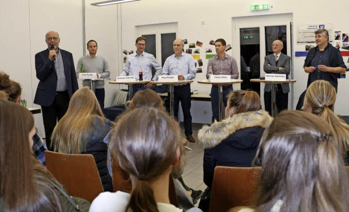Jungwählerforum am Montagabend im Endi...s Metz, Werner Semmler und Udo Wenzl.   | Foto: Ruth Seitz
