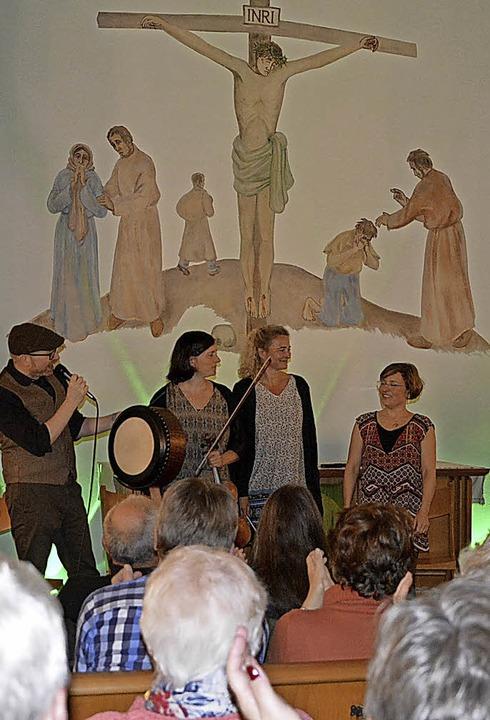 Ensemble Dúil spielte irische Musik in der Kirche.      Foto: Privat