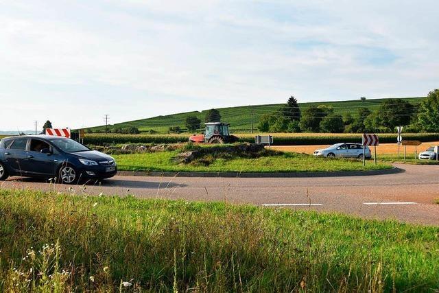 Der Kreisverkehr bei Kirchhofen ist überlastet
