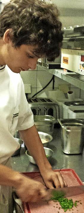 Koch-Azubi Dominik Fleißig will ganz nach oben.  | Foto: sam