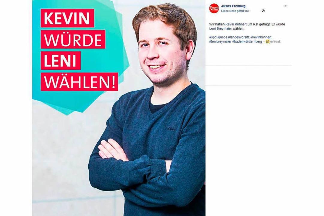 Diesen Post veröffentlichte der Freibu...nd am Mittwoch um 12 Uhr bei Facebook.  | Foto: Screenshot Jusos Freiburg/Facebook