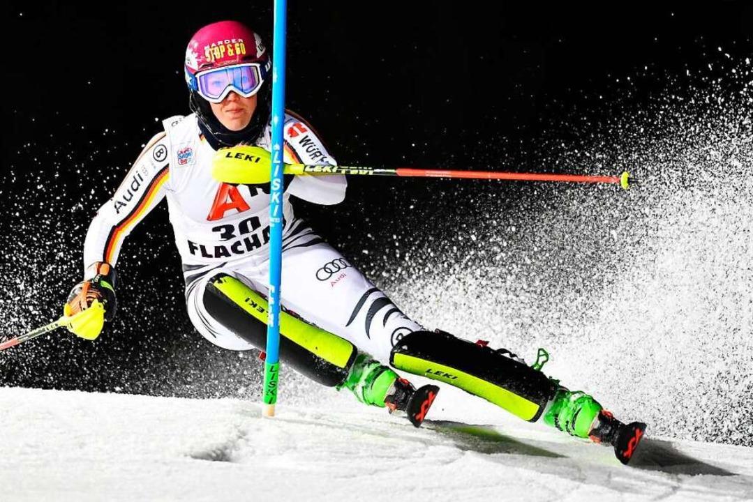Zu viele Ausfälle: Ihr fahrerisches Po... Maren Wiesler im Weltcup oft  nur an.  | Foto: AFP