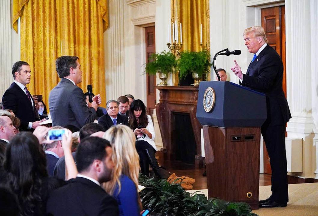 Trump ist bekannt dafür, dass er sich ... mal sagt, sie sollen den Mund halten.    Foto: AFP
