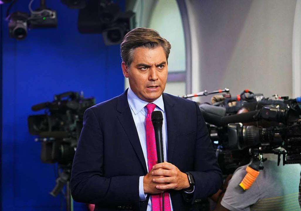 CNN hat sich nach dem Eklat hinter  Ji...iner Akkreditierung scharf kritisiert.    Foto: AFP