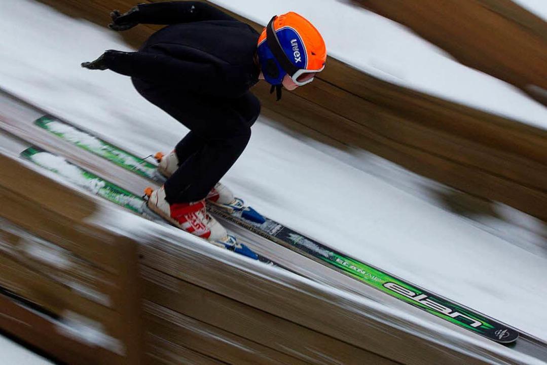Rolf Schillis Begeisterung für den Ski...211; und treibt auch junge Talente an.    Foto: Patrick Pleul