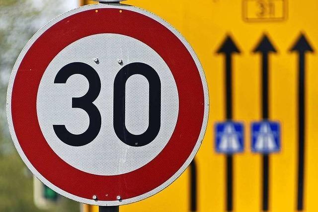 Jetzt gilt ganztags Tempo 30 auf Freiburgs B31