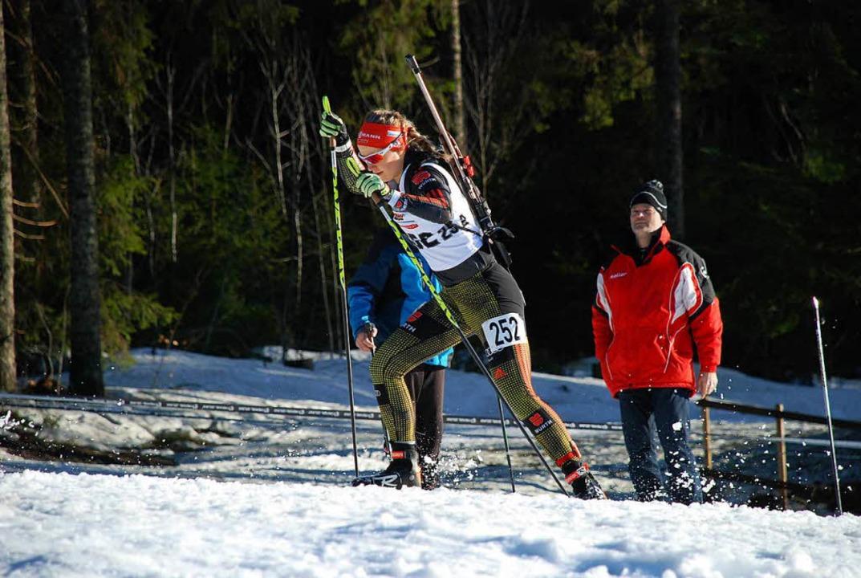 Annika Knoll im vergangenen Winter bei...tschlandpokal-Wettkampf am Notschrei.   | Foto: Jürgen Ruoff