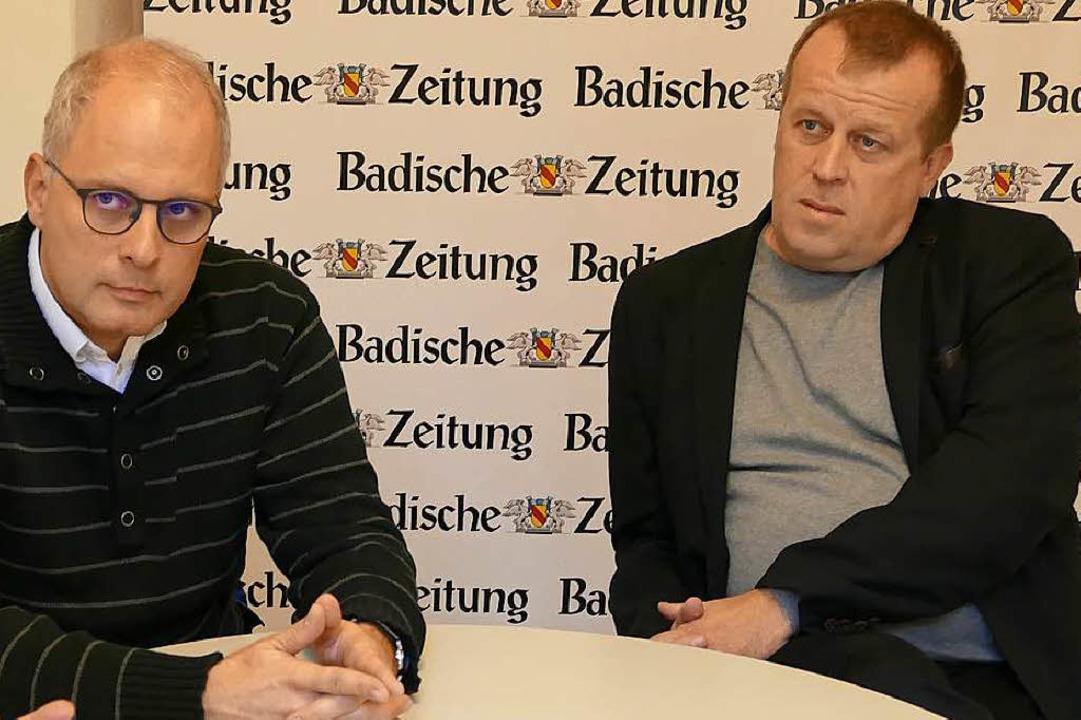 Dekan Johannes Mette (links) und Pastoralreferent Martin Wichmann  | Foto: Mark Alexander