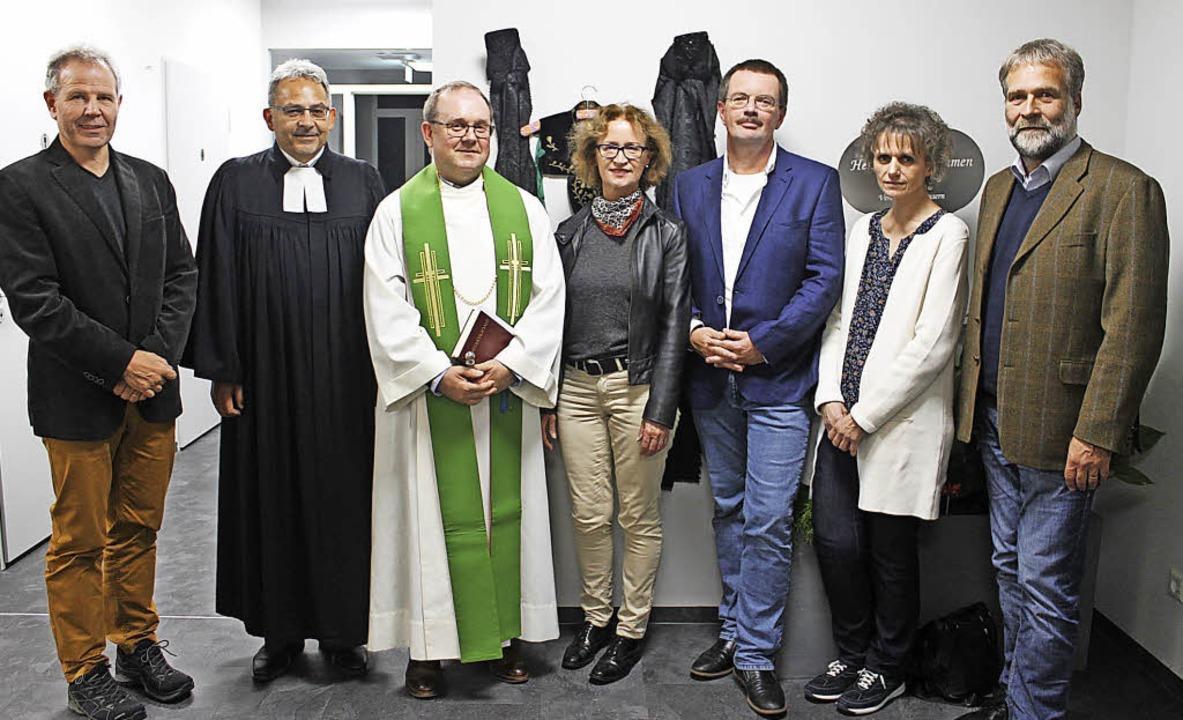 Dass die Tagespflege jetzt St. Franzis...rike Stich und Peter Schwander einig.     Foto: lib