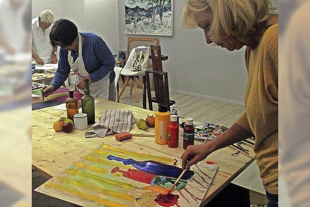 Im offenen Atelier gestalten und von anderen lernen