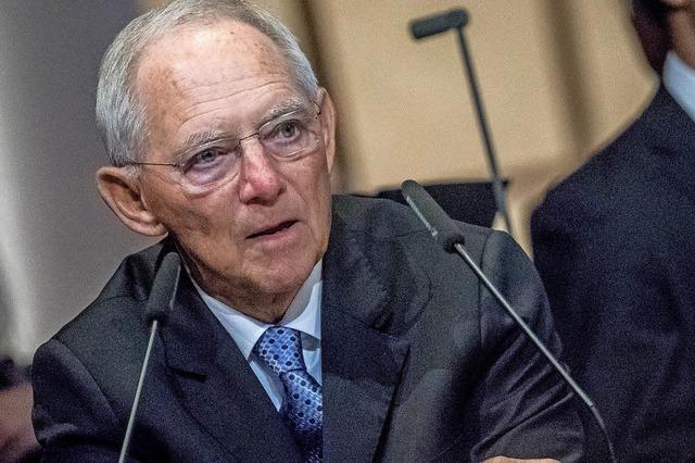 Am Samstag spricht Wolfgang Schäuble in der Uni Freiburg über Föderalismus