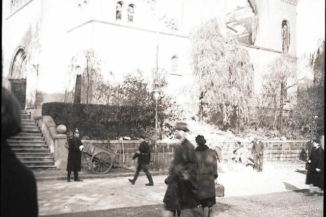 Ein bislang unbekanntes Foto zeigt die zerstörte Freiburger Synagoge