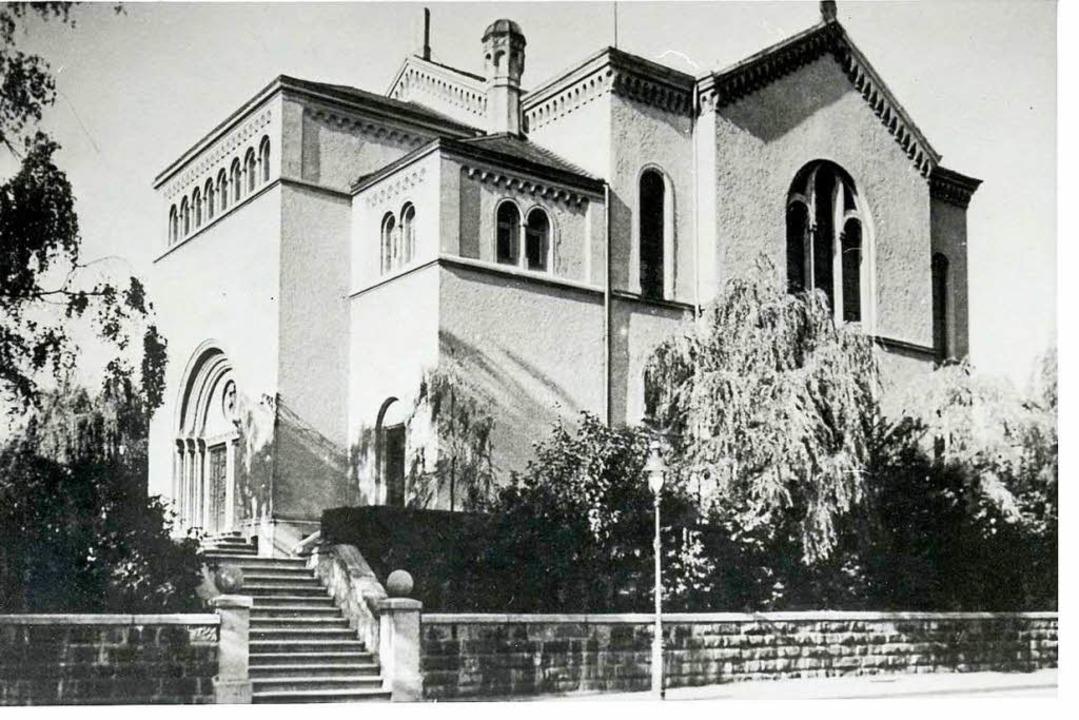 Südwestseite der Synagoge, um 1926  | Foto: Landesarchiv Baden-Württemberg