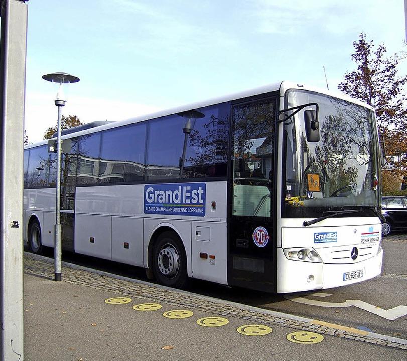 65 Schüler aus dem Elsass kamen mit dem Bus.  | Foto: Susanne Müller