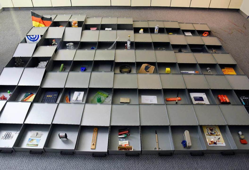 Schließfachboxen als Setzkasten  | Foto: Markus Zimmermann
