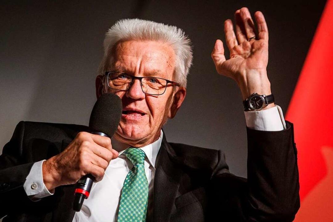 Baden-Württembergs Regierungschef Winfried Kretschmann  | Foto: dpa