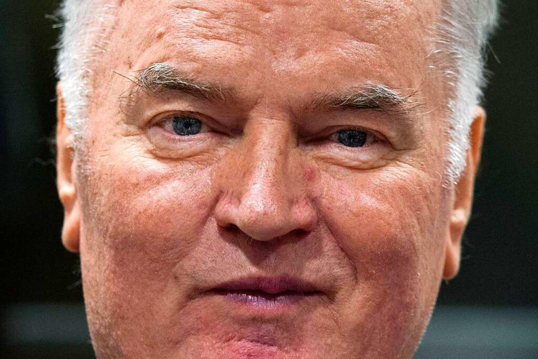 Der bosnisch-serbische General Ratko Mladic ist ein Kriegsverbrecher.  | Foto: AFP